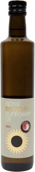 Spiral Organic Sunflower Oil  500ml