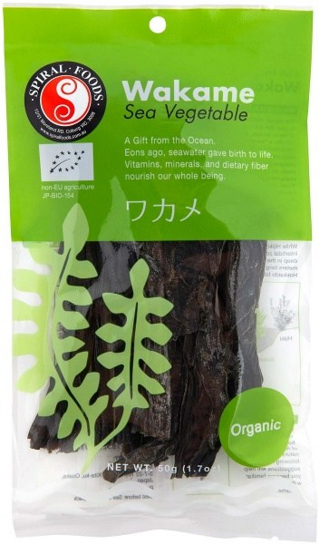 Spiral Organic Wakame Sea Vegetable  50g