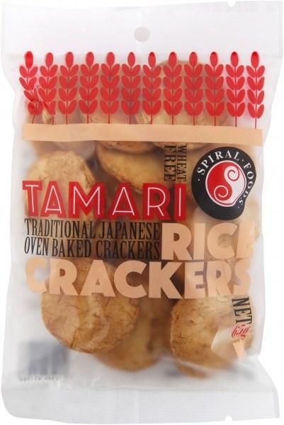 Spiral Tamari Rice Crackers  65g