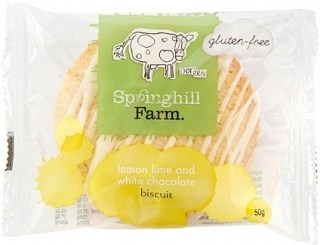 Springhill Farm  Lemon Lime & White Choc 10x50g