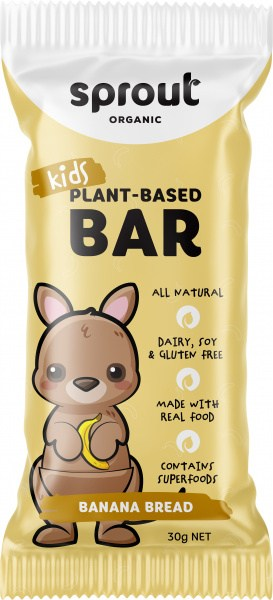 Sprout Organic Kids Plant-Based Banana Bread Bars  12x30g