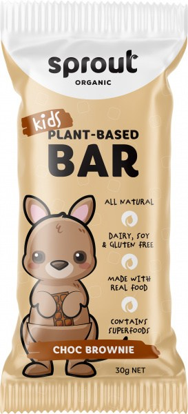 Sprout Organic Kids Plant-Based Choc Brownie Bars  12x30g