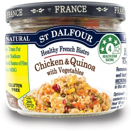 St Dalfour Healthy French Bistro Quinoa & Chicken with Vegetables in Glass 200g