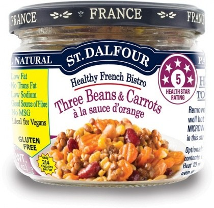 St Dalfour Healthy French Bistro Three Beans & Carrots Gluten Free in Glass 200g