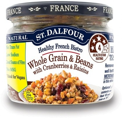 St Dalfour Healthy French Bistro Whole Grain & Beans with Cranberries & Raisins in Glass 200g