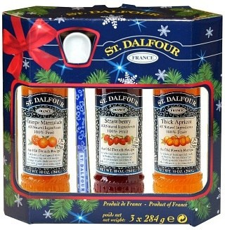 St Dalfour Spread Gift Set (Marmalade, Apricot, Strawberry) with a Spoon 3x284g    Kit