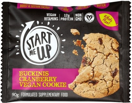Start Me Up Buckinis Cranberry Vegan Cookie 90g