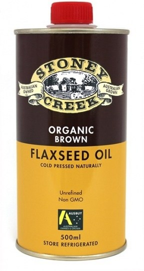 Stoney Creek Organic Brown  Flaxseed Oil 500ml