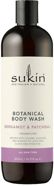 Sukin Botanical Body Wash Bergamot & Patchouli  Cap 500ml