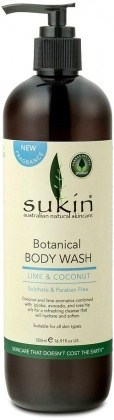 Sukin Botanical Body Wash Lime & Coconut 500ml Pump