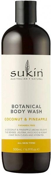 Sukin Botanical Body Wash Pineapple & Coconut  Cap 500ml