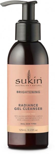 Sukin Brightening Radiance Gel Cleanser 125ml Pump