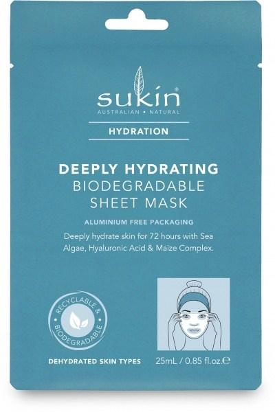 Sukin Hydration  Deeply Hydrating Sheet Mask 25ml