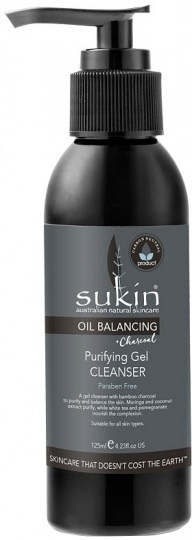 Sukin Oil Balancing Plus Charcoal Purifying Gel Cleanser 125ml
