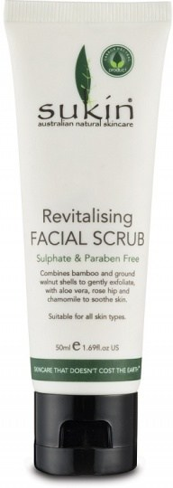 Sukin Revitalising Facial Scrub 50ml Travel Size
