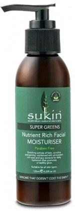 Sukin Super Greens Nutrient Rich Facial Moisturiser 125ml Pump