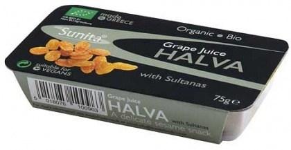 Sunita Organic Halva with Grape Juice & Sultanas 75g