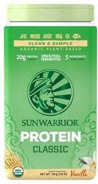 Sunwarrior Classic Organic Rice Protein Vanilla Powder Vegan 750g DEC20