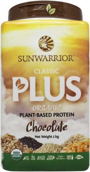 Sunwarrior Classic Plus Organic Plant Based Protein Chocolate Powder 1Kg