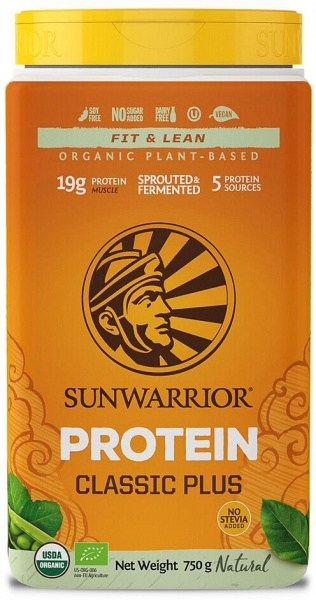 Sunwarrior Classic Plus Organic Plant Based Protein Natural Powder  750g MAR21