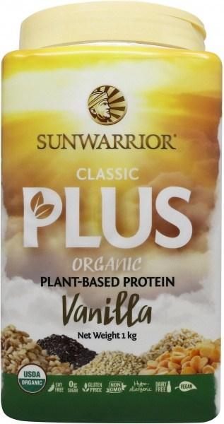 Sunwarrior Classic Plus Organic Plant Based Protein Vanilla Powder 1Kg