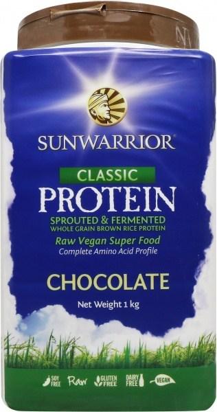 Sunwarrior Classic Rice Protein  Chocolate Powder 1Kg