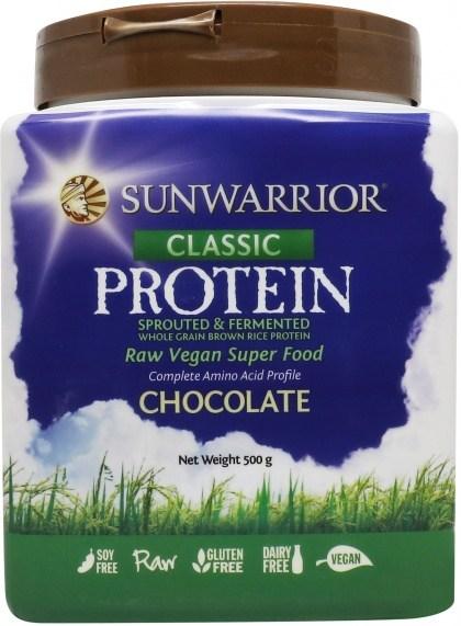 Sunwarrior Classic Rice Protein Chocolate Powder 500g