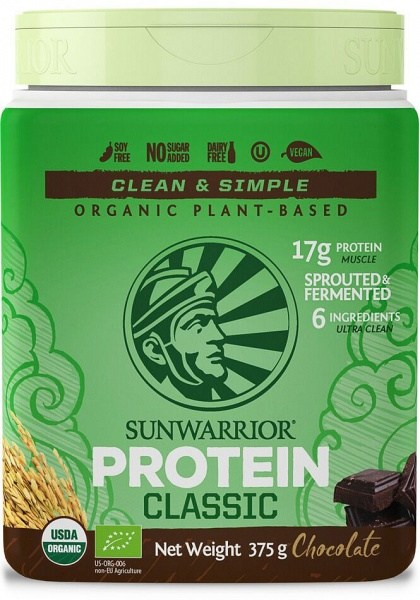 Sunwarrior Organic Plant Based Protein Blend Chocolate Powder Vegan 375g