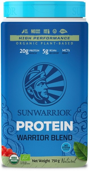 Sunwarrior Organic Plant Based Protein Warrior Blend Natural Powder G/F 750g MAR21