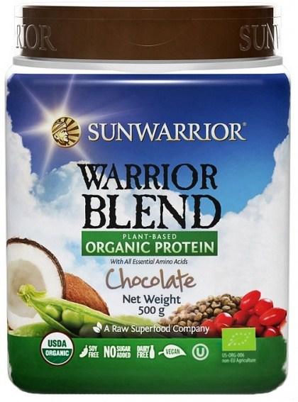 Sunwarrior Warrior Blend Organic Protein Chocolate Blend 500g