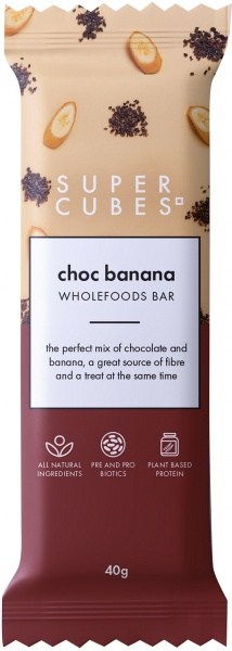 Super Cubes Chocolate Banana Wholefoods Bar  10x40g