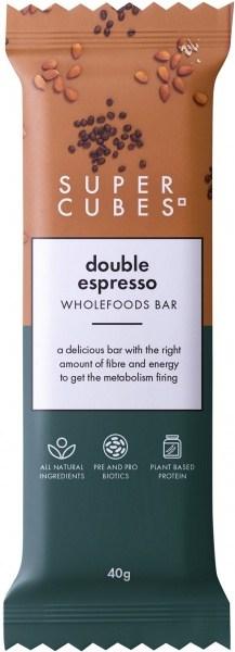 Super Cubes Double Espresso Wholefoods Bar  10x40g
