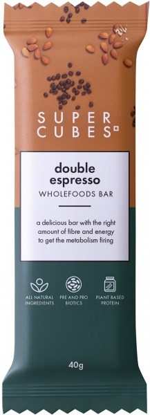 Super Cubes Double Espresso Wholefoods Bar  40g