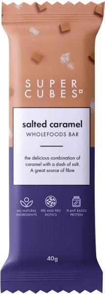 Super Cubes Salted Caramel Wholefoods Bar  10x40g