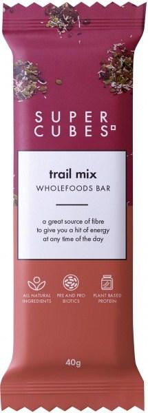 Super Cubes Trail Mix Wholefoods Bar  10x40g