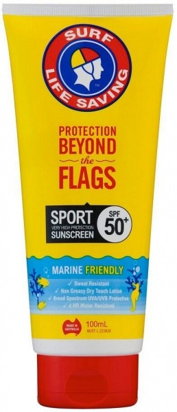 Surf Life Saving Sunscreen Sport SPF50+ Tube 100ml