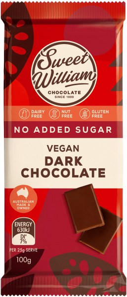 Sweet William NAS Dark Chocolate  100g