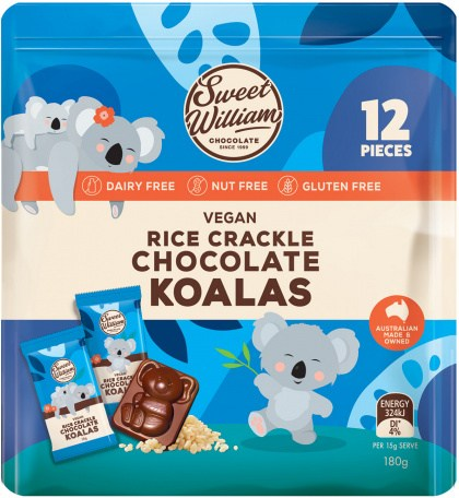 Sweet William Rice Crackle Chocolate Koalas  180g
