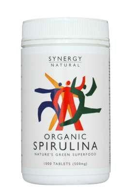 Synergy Spirulina 500mg  x 1000 tabs Organic