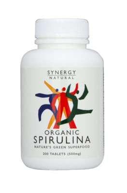 Synergy Spirulina  500mg x 200 tabs Organic