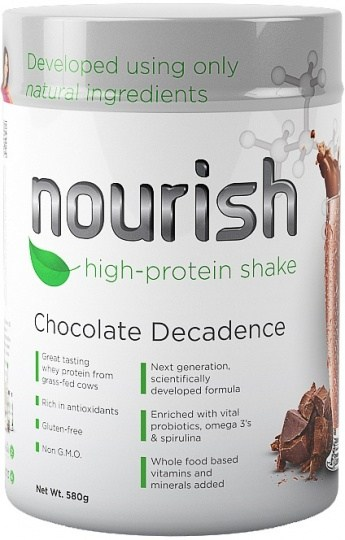SystemLS Nourish High Protein Shake Chocolate Decadence  580g