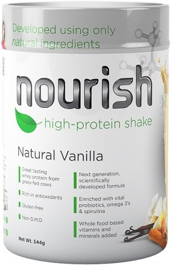 SystemLS Nourish High Protein Shake Natural Vanilla  544g