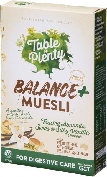 Table of Plenty Balance + Muesli (Toasted Almonds Seeds & Silky Vanilla) 400g