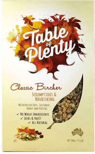 Table of Plenty Clasic Bircher Muesli 500g