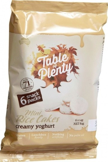 Table of Plenty Creamy Yoghurt Mini Rice Cakes 6x14g Snack Packs  84g