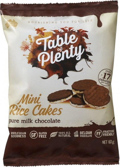 Table of Plenty Milk Chocolate Mini Rice Cakes  60g
