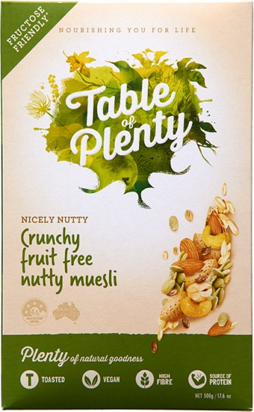 Table of Plenty Nicely Nutty Clusters Muesli 500g