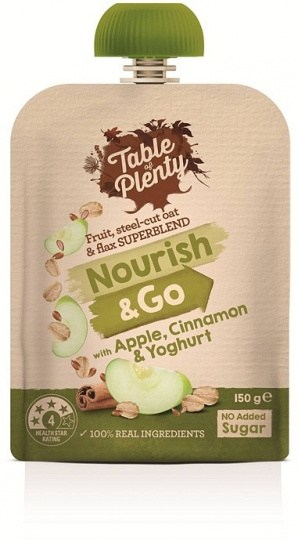 Table of Plenty Nourish & Go Apple & Cinnamon 150g