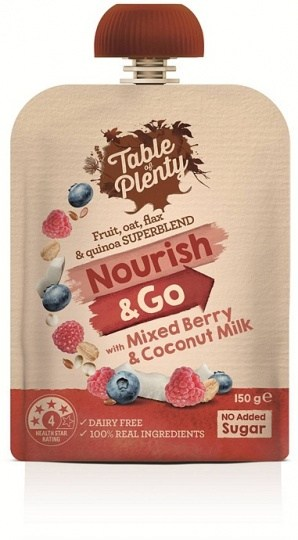 Table of Plenty Nourish & Go Mixed Berry & Coconut Milk 150g