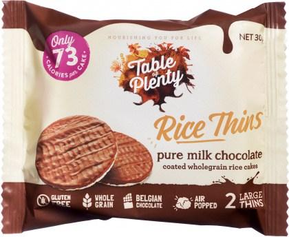 Table of Plenty Triple Rice Thins Milk Chocolate  30g